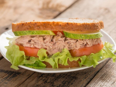 Tuna and salad sandwich