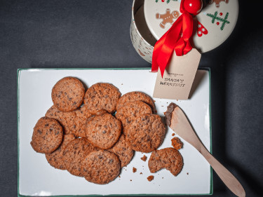 Healthy Christmas Fruit Cake Biscuits